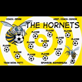 Hornets Fabric Soccer Banner - Live Designer