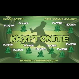 Kryptonite Vinyl Soccer Banner - Live Designer