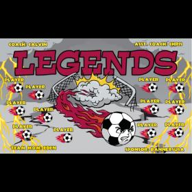 Legends Fabric Soccer Banner - Live Designer