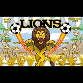 Lions Fabric Soccer Banner - Live Designer