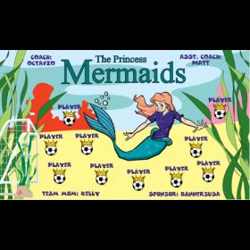 Mermaids Fabric Soccer Banner - Live Designer
