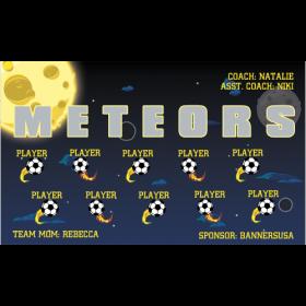 Meteors Fabric Soccer Banner - Live Designer