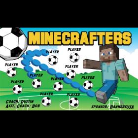 Minecrafters Vinyl Soccer Banner Live Designer