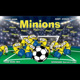 Minions Vinyl Soccer Banner - Live Designer