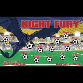 Night Fury Vinyl Soccer Banner - Live Designer