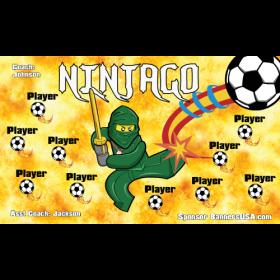 Ninjago Fabric Soccer Banner - Live Designer