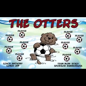 Otters Vinyl Soccer Banner Live Designer