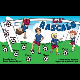 Rascals LiL Fabric Soccer Banner - Live Designer
