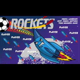 Rockets Vinyl Soccer Banner - Live Designer