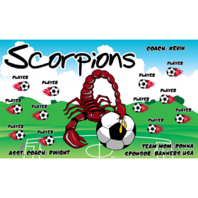 Scorpions Fabric Soccer Banner - Live Designer