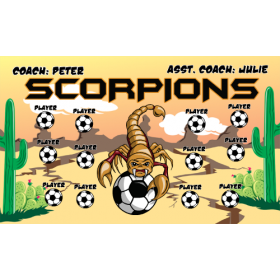 Scorpions Fabric Soccer Banner Live Designer