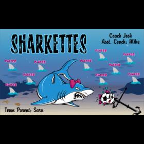 Sharkettes Fabric Soccer Banner - Live Designer
