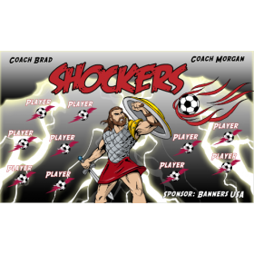 Shockers Vinyl Soccer Banner - Live Designer