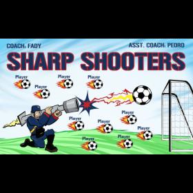 Shooters Sharp Vinyl Soccer Banner - Live Designer