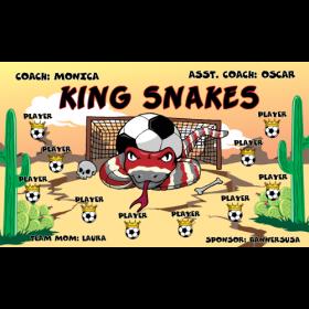 Snakes King Fabric Soccer Banner - Live Designer