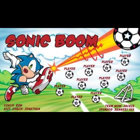 Sonic Boom Fabric Soccer Banner - Live Designer