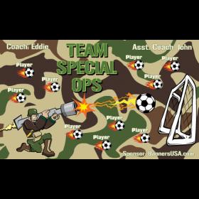 Special Ops Team Vinyl Soccer Banner - Live Designer