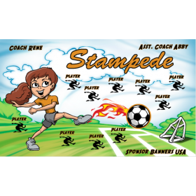 Stampede Fabric Soccer Banner - Live Designer