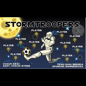 StormTroopers Fabric Soccer Banner Live Designer