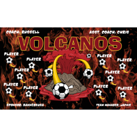 Volcanoes Fabric Soccer Banner - Live Designer