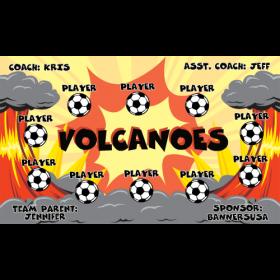 Volcanoes Vinyl Soccer Banner - Live Designer
