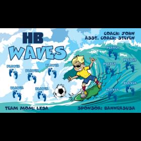 Waves HB Vinyl Soccer Banner - Live Designer