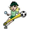 Girls in Costume  - Soccer Art  ®